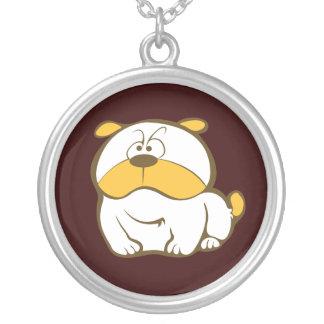 Cartoon Dog Round Pendant Necklace