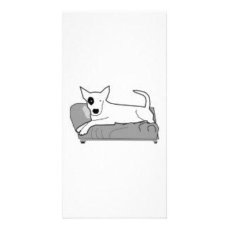 Cartoon Dog on Couch Photo Greeting Card