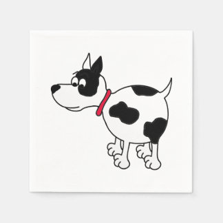 Cartoon Dog Paper Napkin