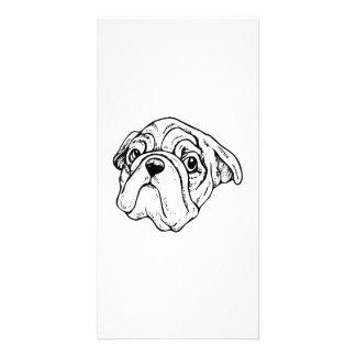 Cartoon Dog Photo Greeting Card