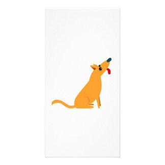 Cartoon Dog Photo Card Template