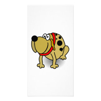 Cartoon Dog Customized Photo Card