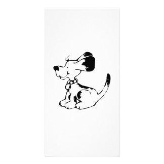 Cartoon Dog Personalized Photo Card