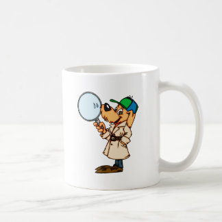Cartoon Dog Private Investigator Coffee Mug