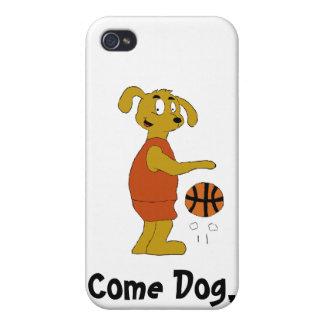 Cartoon Dog Shooting Free Throw iPhone 4 Cover