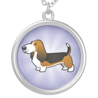 Cartoon Dog Silver Plated Necklace