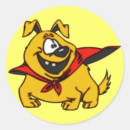 Cartoon Dog Super Hero Stickers
