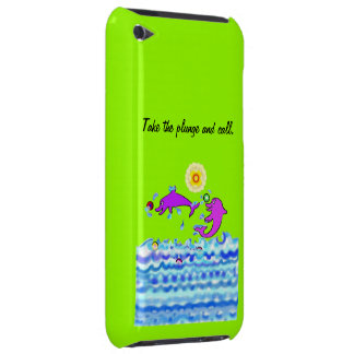Cartoon Dolphins Barely There iPod Cover