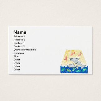Cartoon Dolphins Business Card