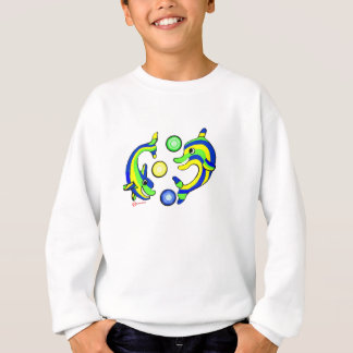 Cartoon Dolphins Sweatshirt