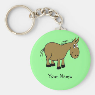 Cartoon Donkey Key Ring