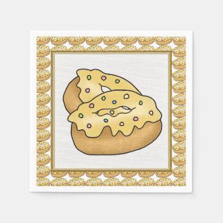 Cartoon Donut fun sweet paper napkins