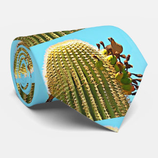 Cartoon Dove on Saguaro Neck Tie