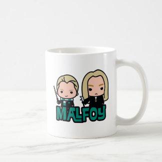 Cartoon Draco and Lucius Malfoy Character Art Coffee Mug