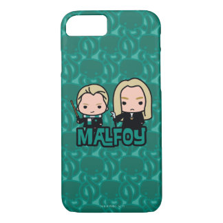 Cartoon Draco and Lucius Malfoy Character Art iPhone 8/7 Case