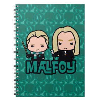 Cartoon Draco and Lucius Malfoy Character Art Notebook