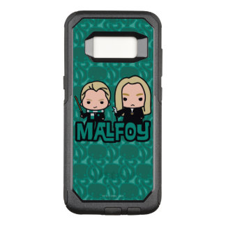 Cartoon Draco and Lucius Malfoy Character Art OtterBox Commuter Samsung Galaxy S8 Case
