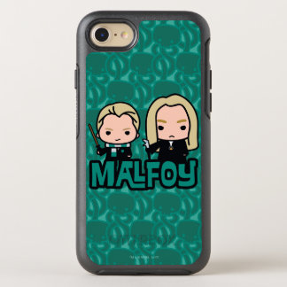 Cartoon Draco and Lucius Malfoy Character Art OtterBox Symmetry iPhone 8/7 Case