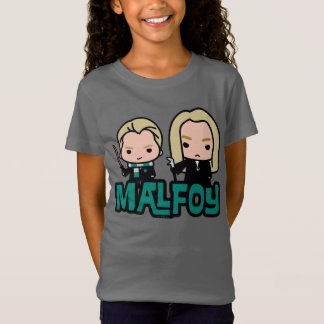Cartoon Draco and Lucius Malfoy Character Art T-Shirt