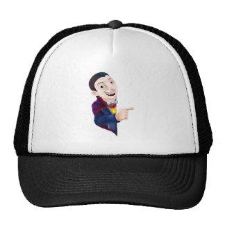 Cartoon Dracula Vampire Pointing Mesh Hat