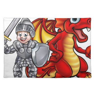 Cartoon Dragon and knight 2017 A3-01 Placemat
