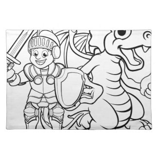 Cartoon Dragon and Knight Placemat