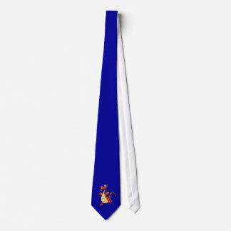 Cartoon Dragon; Blue Tie
