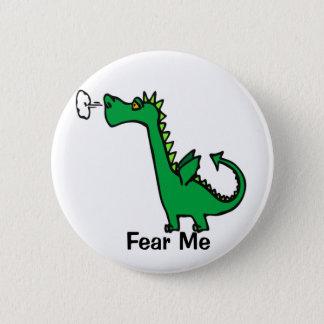 Cartoon Dragon Fear Me 6 Cm Round Badge