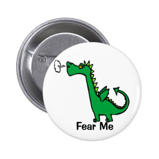 Cartoon Dragon Fear Me 6 Cm Round Badge