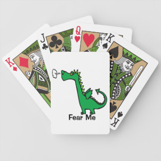 Cartoon Dragon Fear Me Bicycle Playing Cards