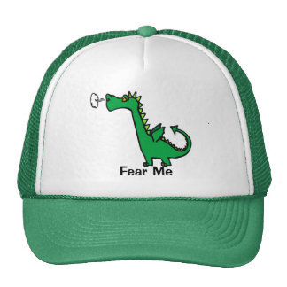 Cartoon Dragon Fear Me Cap