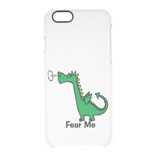 Cartoon Dragon Fear Me Clear iPhone 6/6S Case