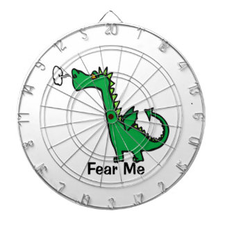 Cartoon Dragon Fear Me Dart Board
