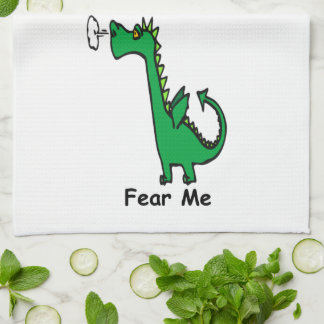 Cartoon Dragon Fear Me Hand Towels