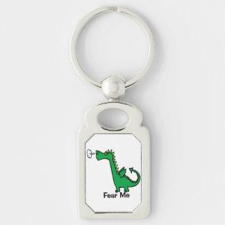 Cartoon Dragon Fear Me Key Ring