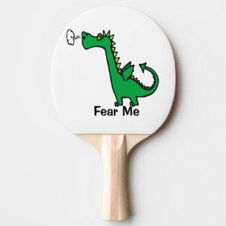 Cartoon Dragon Fear Me Ping Pong Paddle