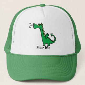 Cartoon Dragon Fear Me Trucker Hat