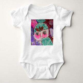 Cartoon drama face baby bodysuit