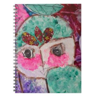Cartoon drama face spiral notebook