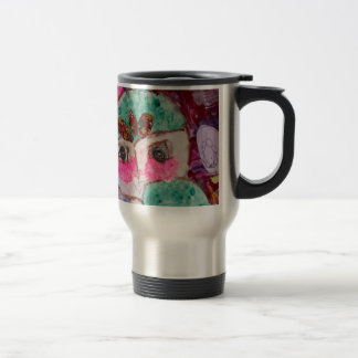 Cartoon drama face travel mug