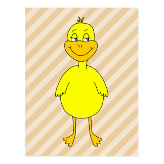 Cartoon Duck. Postcard