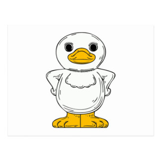 Cartoon Duck Postcard