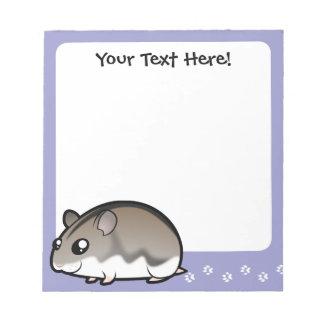 Cartoon Dwarf Hamster Notepad