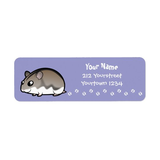 Cartoon Dwarf Hamster Return Address Label