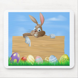 Cartoon Easter bunny pointing Mousemat