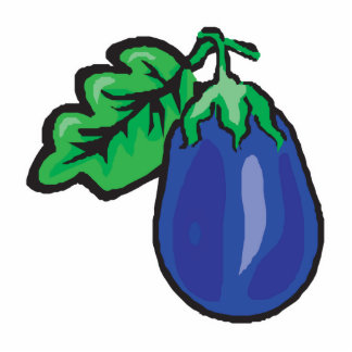 cartoon eggplant standing photo sculpture
