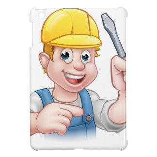Cartoon Electrician Holding Screwdriver Cover For The iPad Mini