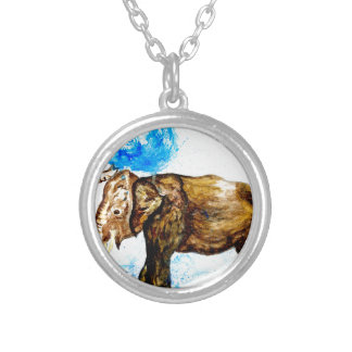 Cartoon Elephant2 Silver Plated Necklace
