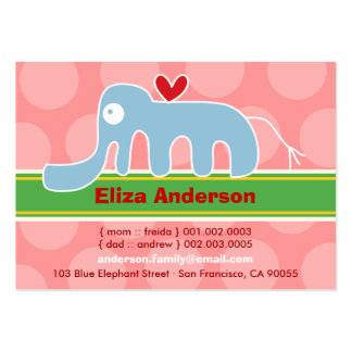 Cartoon Elephant Kid Photo Profile / Name Card Business Card Template
