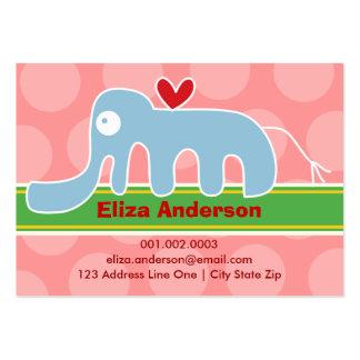 Cartoon Elephant Kid Photo Profile / Name Card Business Cards